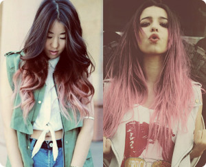 black-and-pink-ombre-hair-color