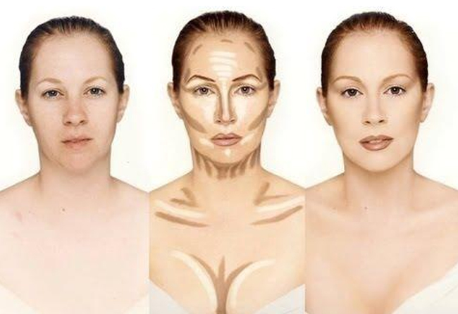 Contouring-Highlighting-for-low-cut-blouses
