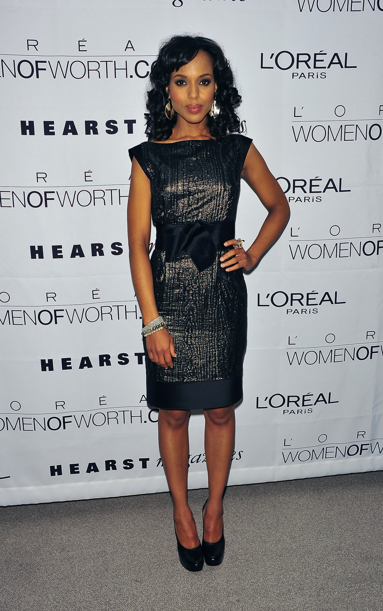 NEW YORK, NY - DECEMBER 09: Actress Kerry Washington attends the 5th Annual L'Oreal Women of Worth awards at Hearst Tower on December 9, 2010 in New York City. (Photo by Brian Killian/WireImage)
