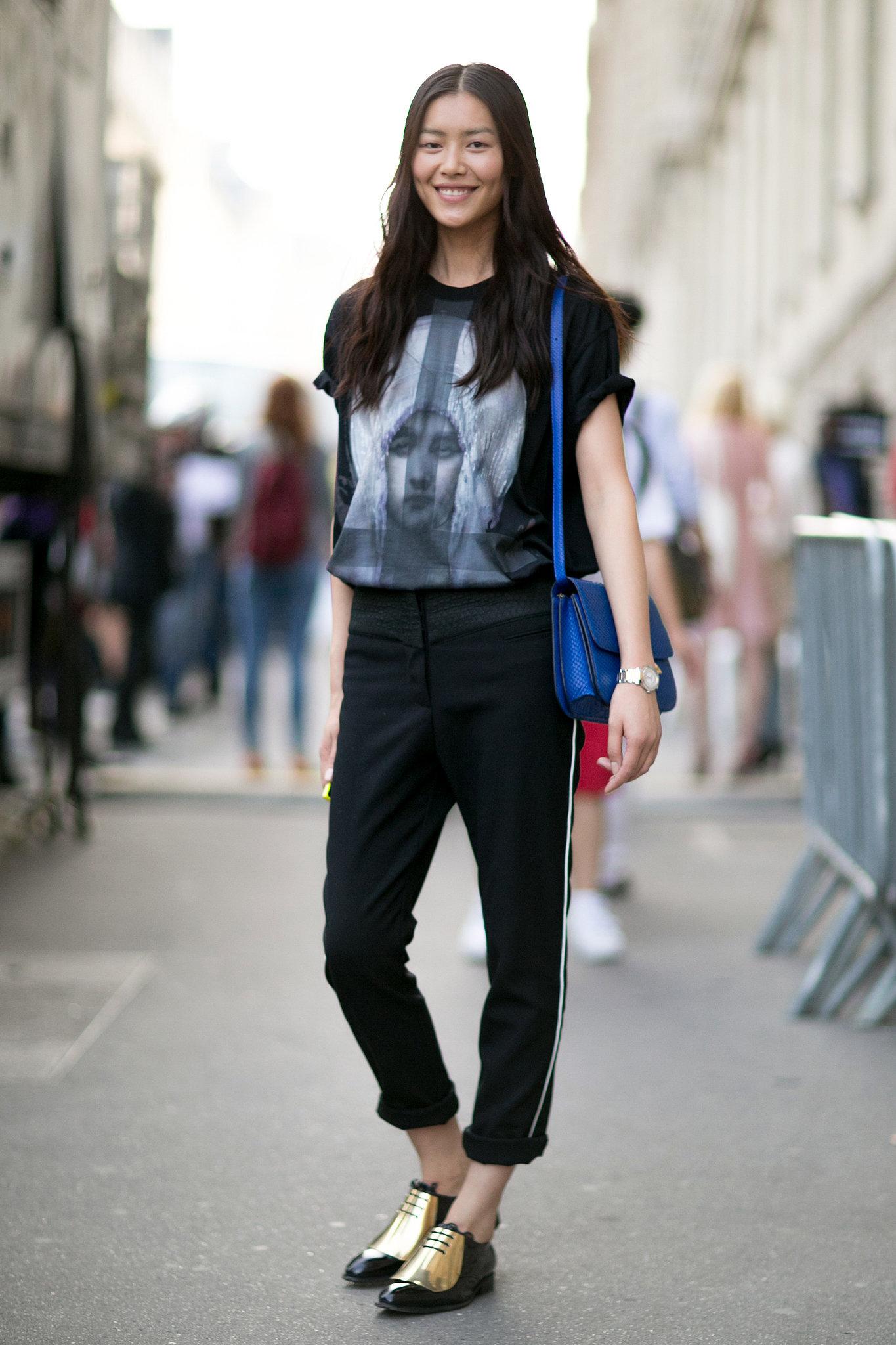 Liu-Wen-styles-up-her-look-snazzy-kicks