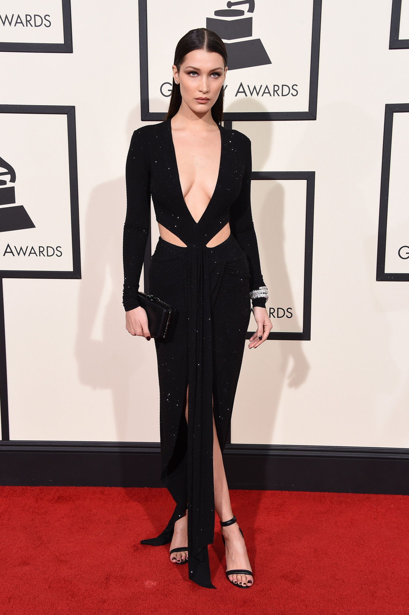 LOS ANGELES, CA - FEBRUARY 15: Model Bella Hadid attends The 58th GRAMMY Awards at Staples Center on February 15, 2016 in Los Angeles, California. (Photo by Steve Granitz/WireImage)