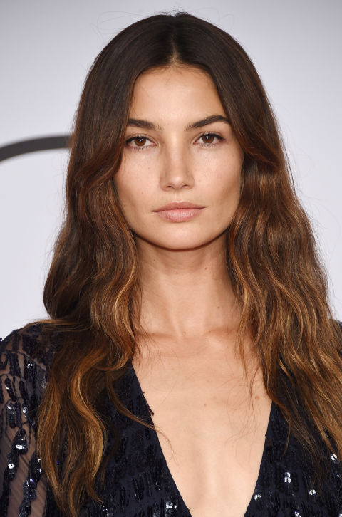lily-aldridge-balayage-hair-color