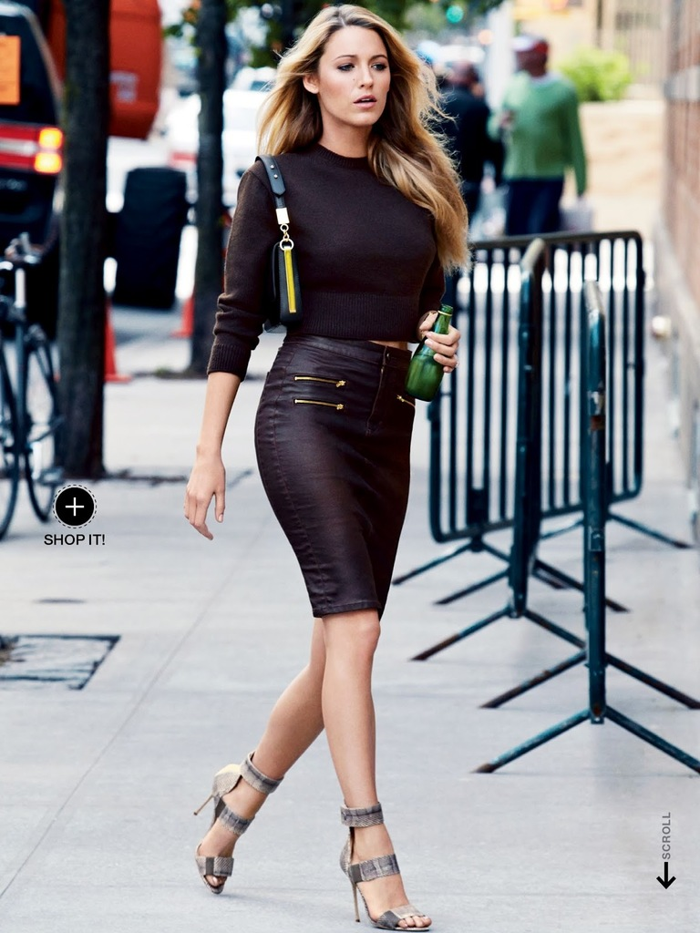 blake-lively-fashion-style-leather-skirt-black