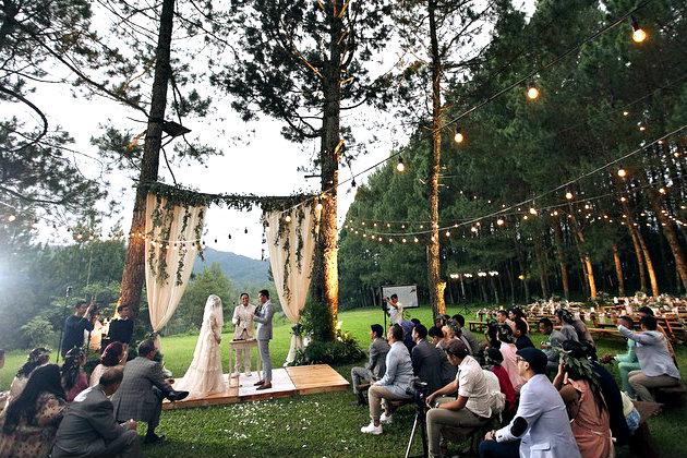 menghadiri pesta pernikahan