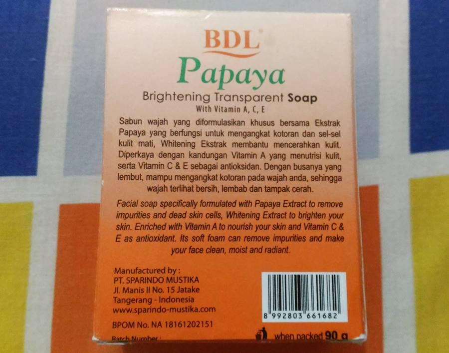 Review Bdl Papaya Brightening Transparent Soap Tampil Cantik