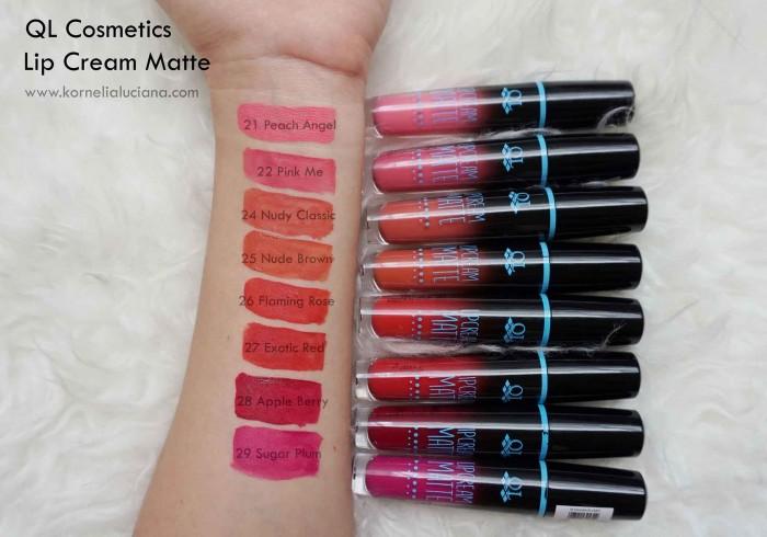 Review Lipstick Lokal QL Cosmetic Matte Lip Cream